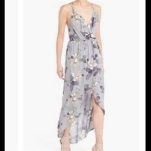 ASTR The Label Ruffle Floral Hi-Low Maxi Dress XS